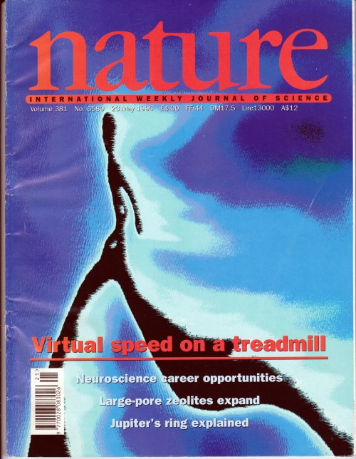 Nature International Weekly Journal of Science cover page by Sfona Pelah