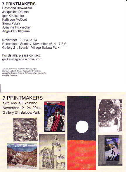 7 printmakers 19th annual