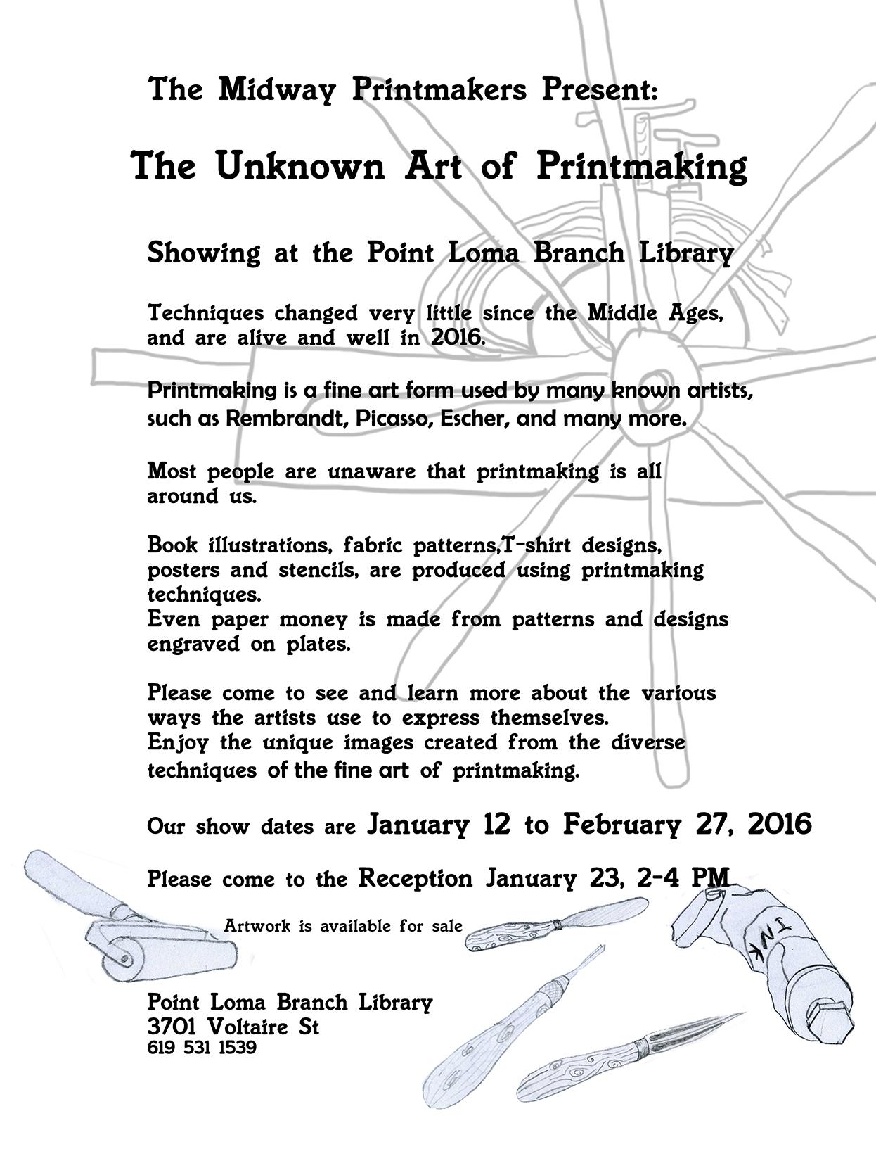 Midway Printmakers Exhibit