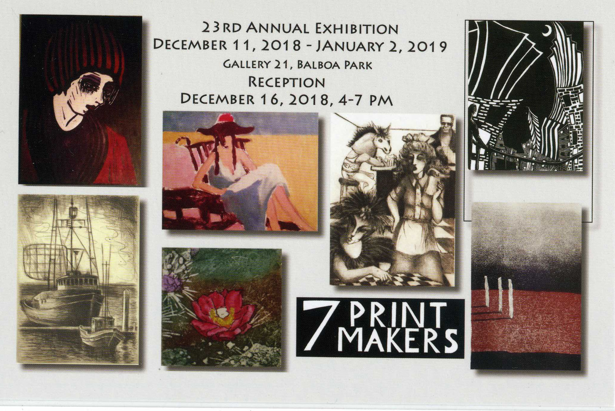 2018 7 printmakers exhibit