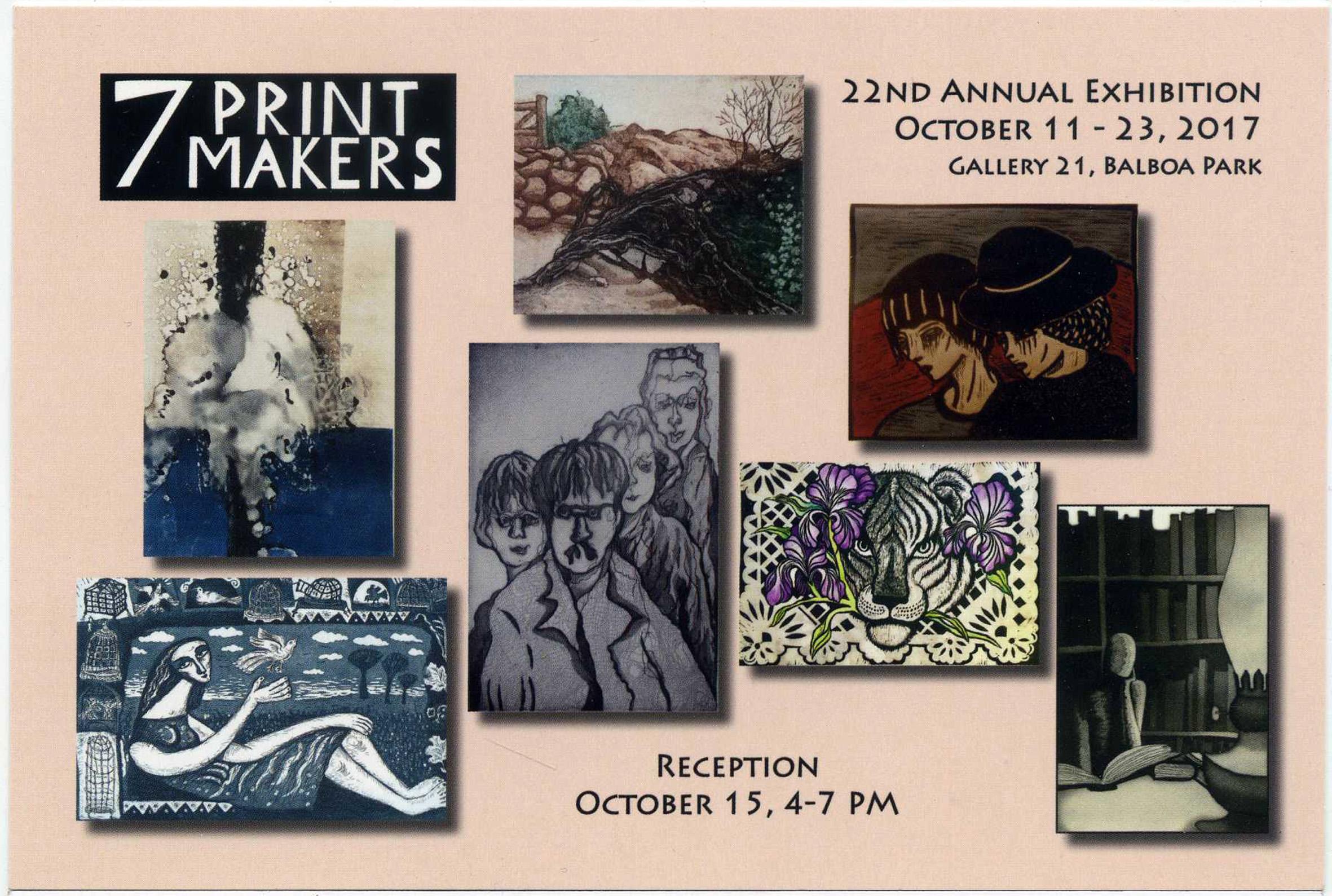 2017 7 Printmakers invitation